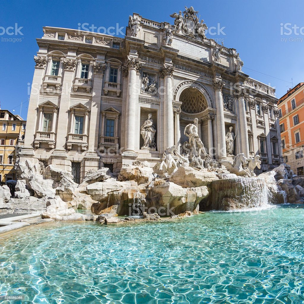 trevi fountain images - 612×612