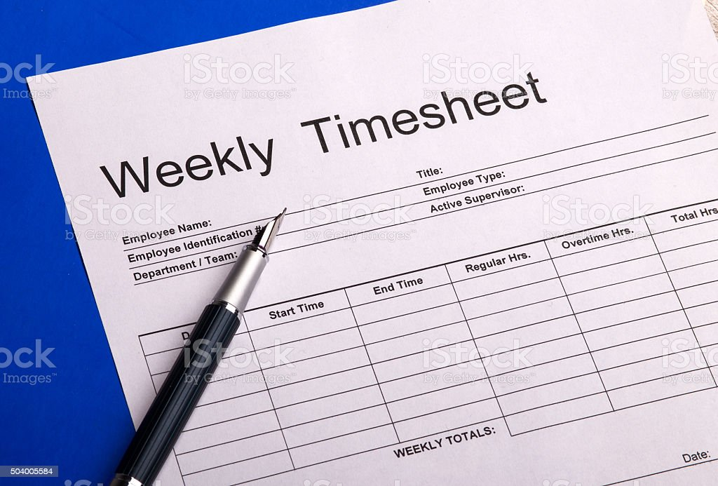Royalty Free Time Sheet Pictures  Images and Stock Photos   iStock Weekly Timesheet Form stock photo