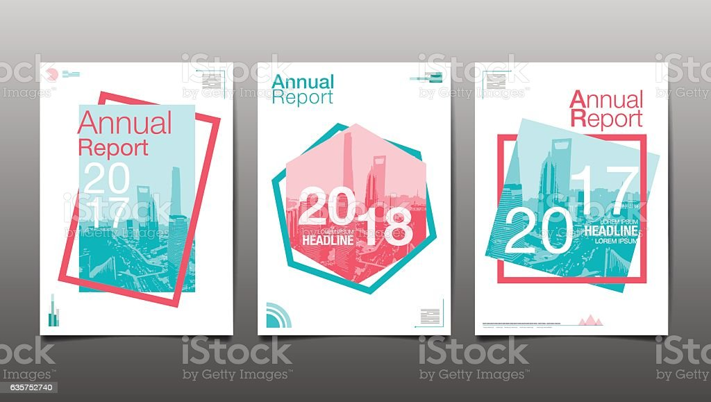 Annual Report 201720182019 Template Layout Design Stock ...