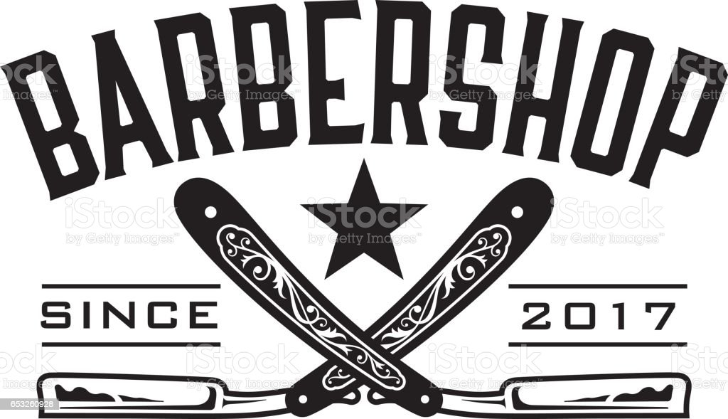 Barbershop Logo Stock Vector Art & More Images of Antique ...