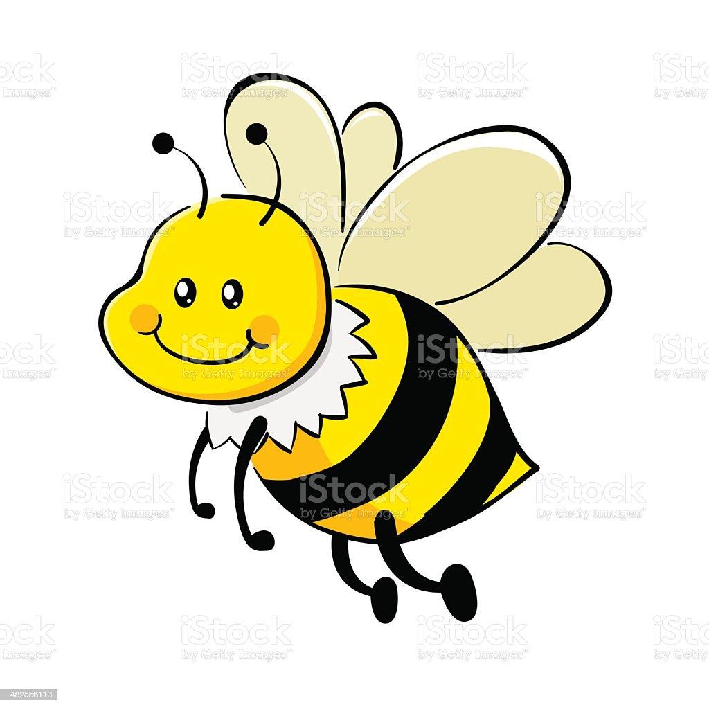 Spring Bees Cartoon Clip Art