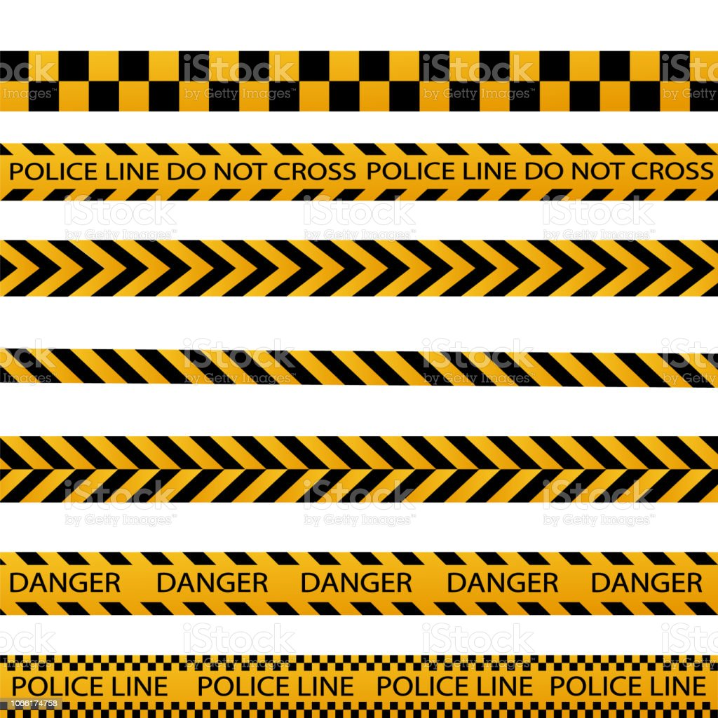 Black And Yellow Border Consruction