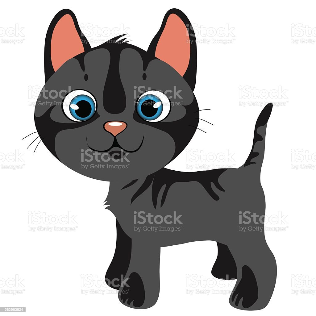 Royalty Free Grey Cats Cartoon Clip Art, Vector Images ...