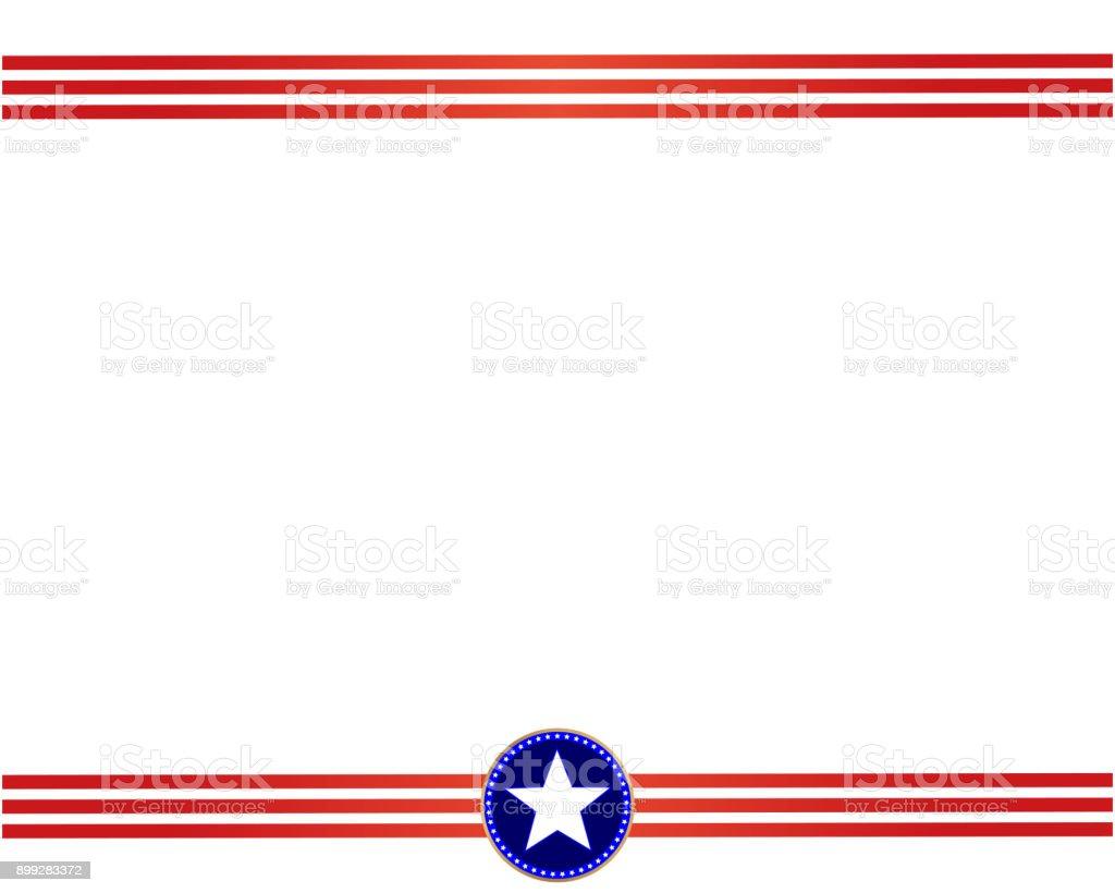 Border American Art Flag Clip