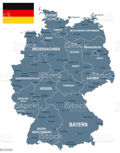 Germany Map And Flag Illustration Stock Vector Art   More Images of     Germany   map and flag illustration royalty free germany map and flag  illustration stock vector