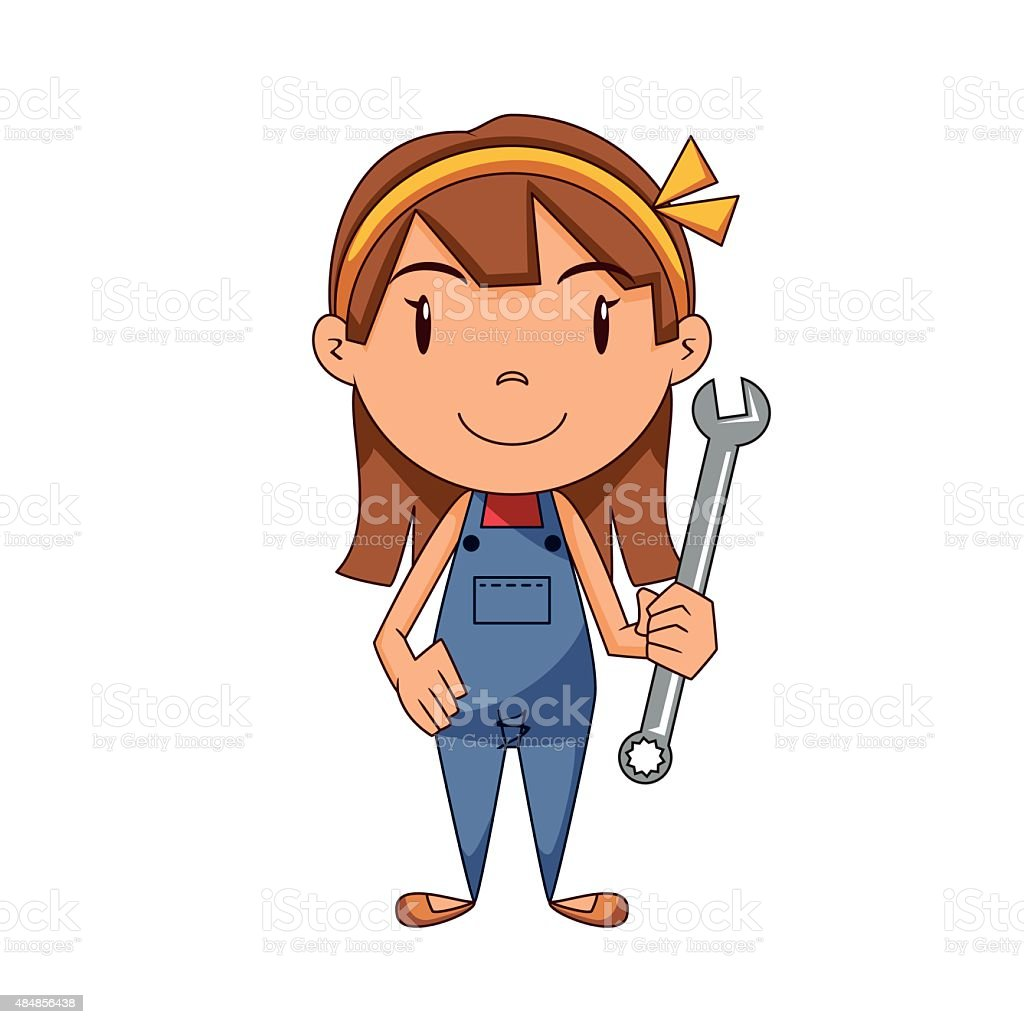 Royalty Free Female Mechanic Clip Art Vector Images
