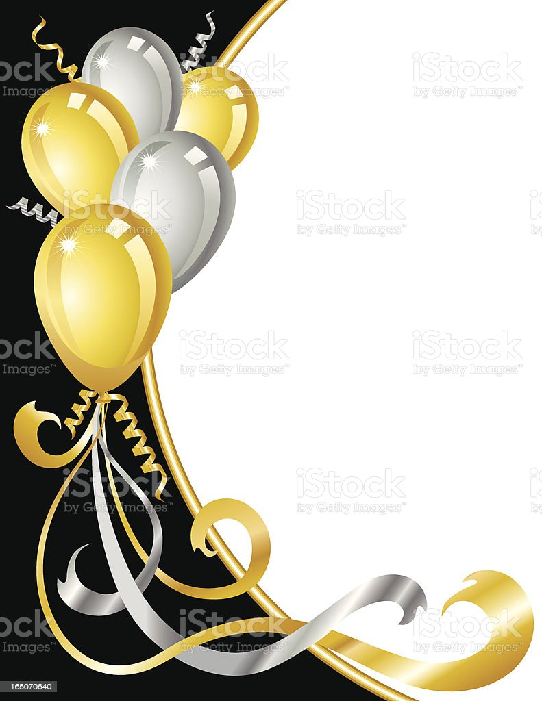 Gold And Silver Balloons Stock Vector Art Amp More Images Of