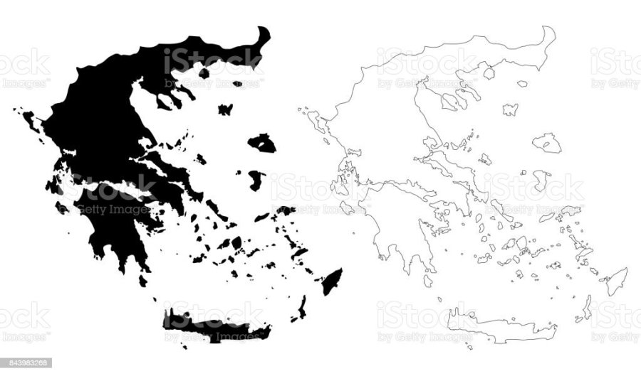 Greece Map Vector Stock Vector Art   More Images of Abstract     Greece map vector royalty free greece map vector stock vector art  amp   more images