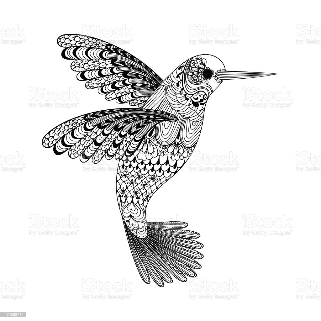 Attractive Ruby Throated Hummingbird Coloring Pages Elaboration ...