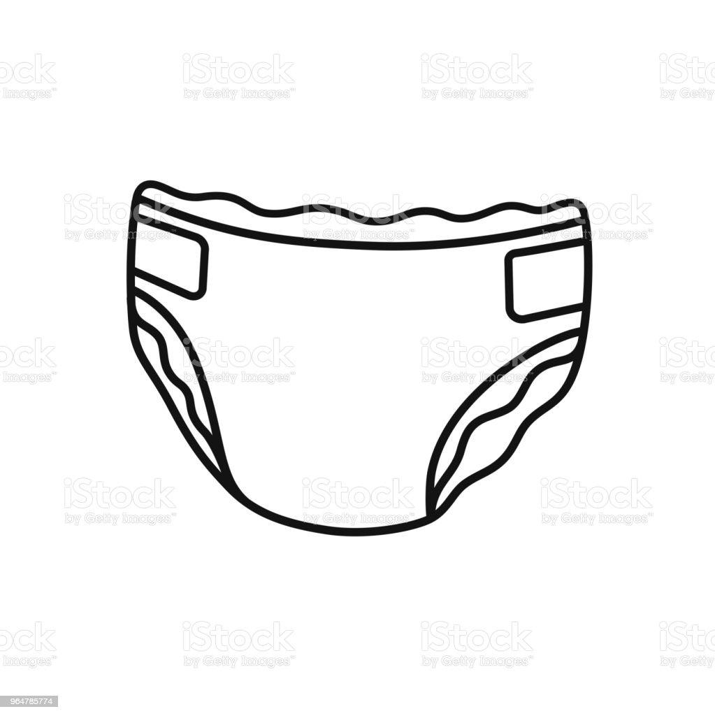 And Black Clip Border White Baby Art Diaper