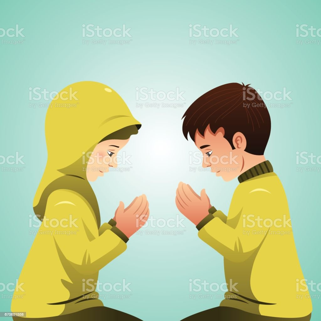 Best Muslim Couple Illustrations, Royalty-Free Vector ...
