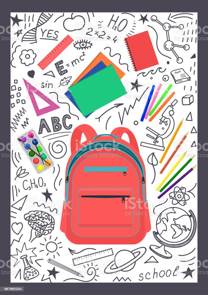 Best Open Backpack Illustrations, Royalty-Free Vector ...