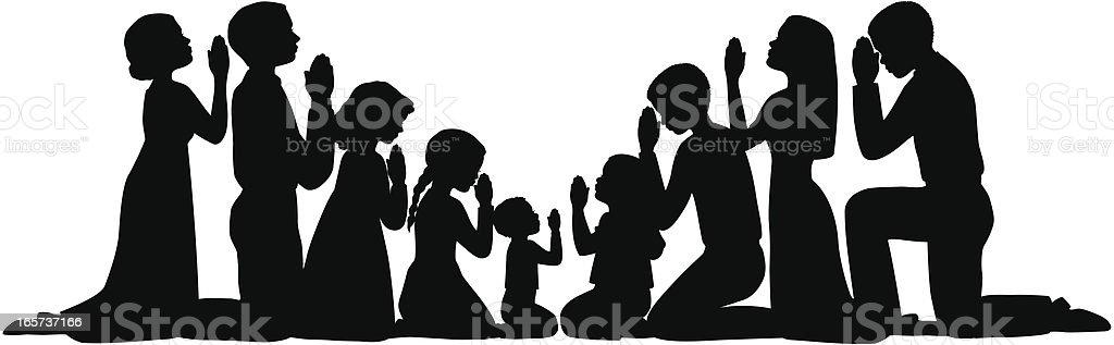 Best Kneeling In Prayer Illustrations, Royalty-Free Vector ...