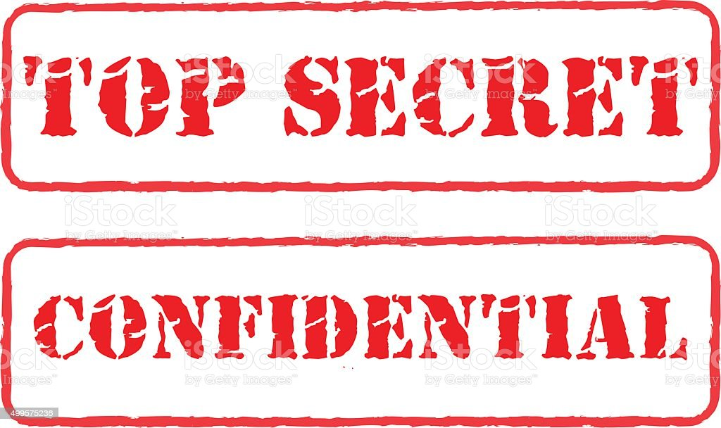 Rubber Stamps Top Secret And Confidential Vector stock ...