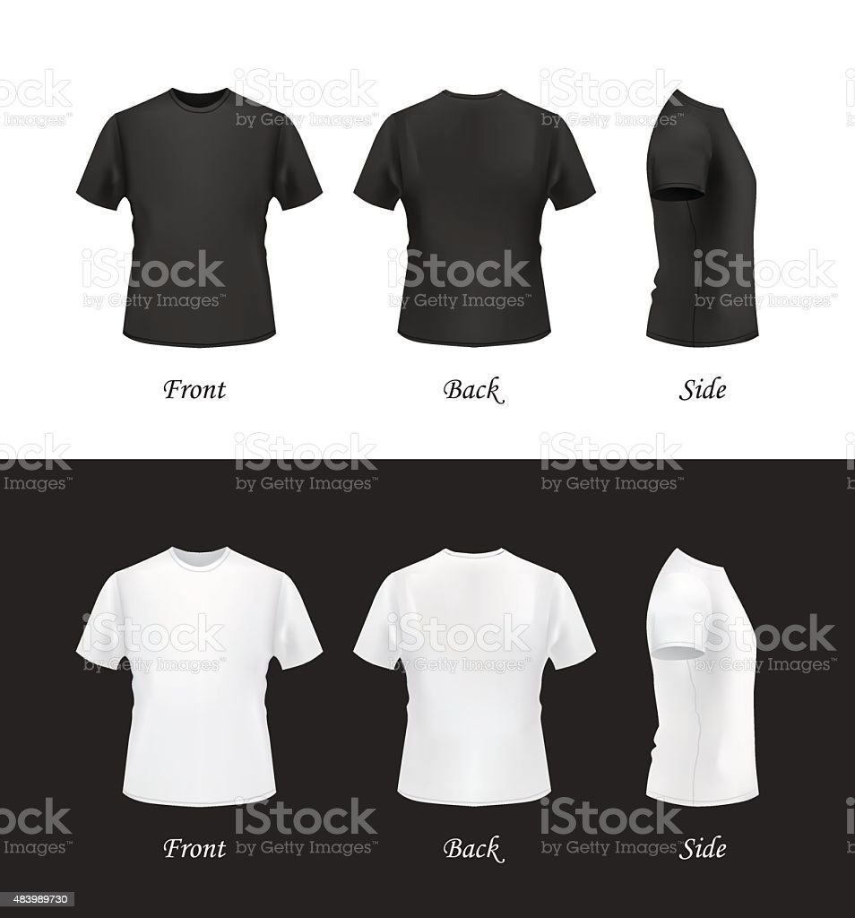 Tshirt Template Set Front Back And Side Views Stock Vector Art     T shirt template set  front  back and side views  royalty free