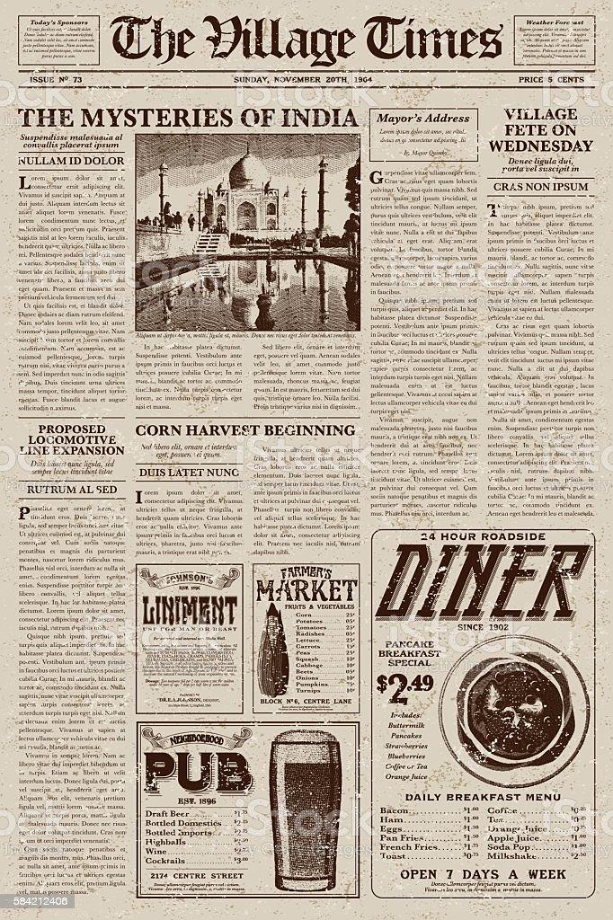 Blank Newspaper Headline