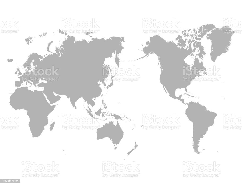 World Map Outline Contour Silhouette Asia In Center Stock Vector Art     World Map Outline Contour Silhouette   Asia in Center royalty free world map  outline contour