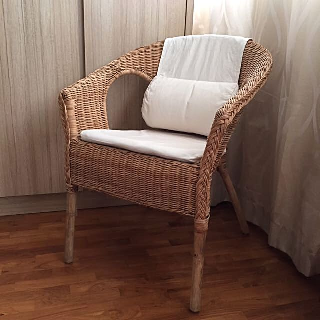 Ikea Agen Rattan Chair With Norna Chair Pad Amp Hasto