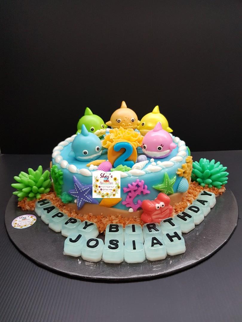Baby Shark Ocean Sea Theme Agar Agar Jelly Birthday Cake