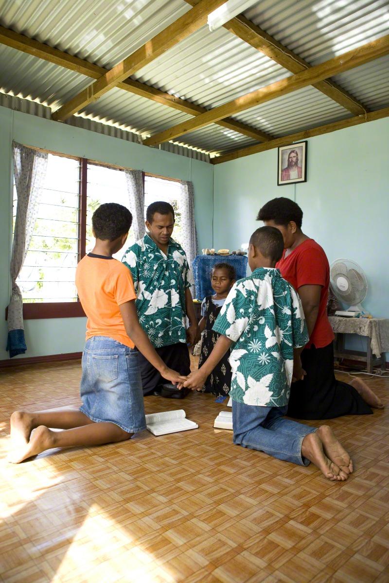 Family Prayer in Fiji