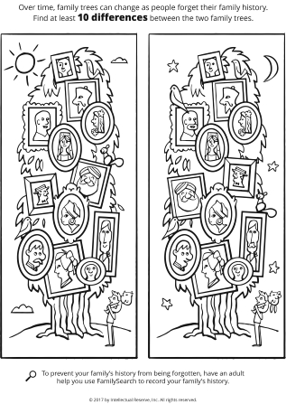 family tree coloring page # 21