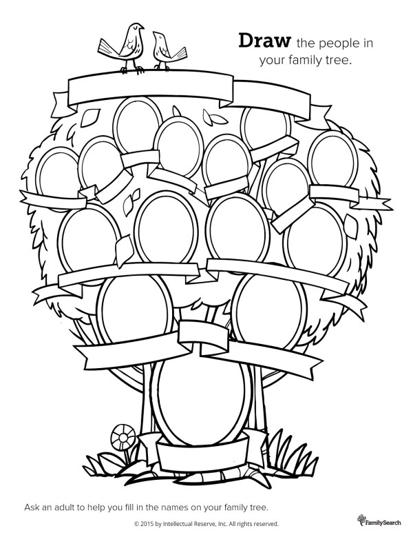 family tree coloring page # 11