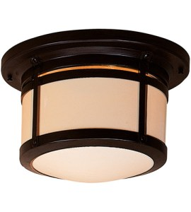 Arroyo Craftsman BCM 12CR BZ Berkeley 2 Light 14 inch Bronze Flush     Arroyo Craftsman BCM 12CR BZ Berkeley 2 Light 14 inch Bronze Flush Mount  Ceiling Light in Cream