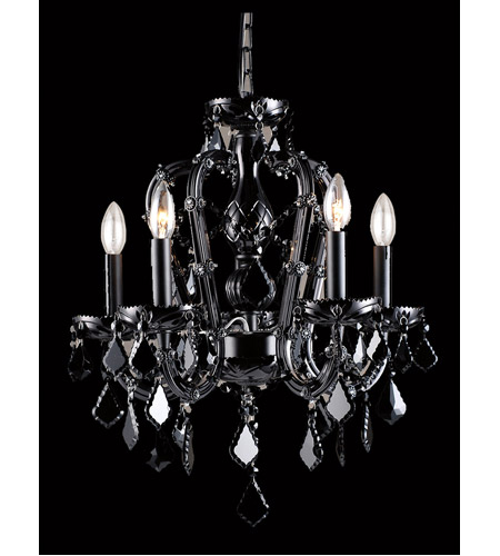 small black crystal chandelier # 12