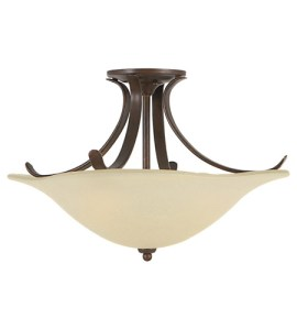 Feiss SF214GBZ Morningside 3 Light 18 inch Grecian Bronze Semi Flush     Feiss SF214GBZ Morningside 3 Light 18 inch Grecian Bronze Semi Flush Mount  Ceiling Light in Cream Snow Glass