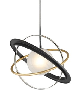 Troy Lighting F5511 Apogee LED 24 inch Bronze with Gold Leaf and     Troy Lighting F5511 Apogee LED 24 inch Bronze with Gold Leaf and Polished  Stainless Pendant Ceiling Light