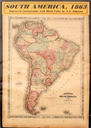 Map of South America  1863 Image 1   Map of South America  1863