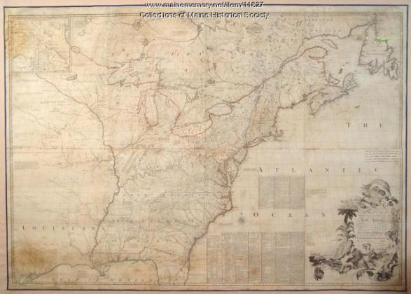 Map of the British and French North America  1775   Maine Memory Network Map of the British and French North America  1775