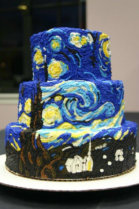 Van Gogh Cake Sweet Cakes Boston Watertown Ma From