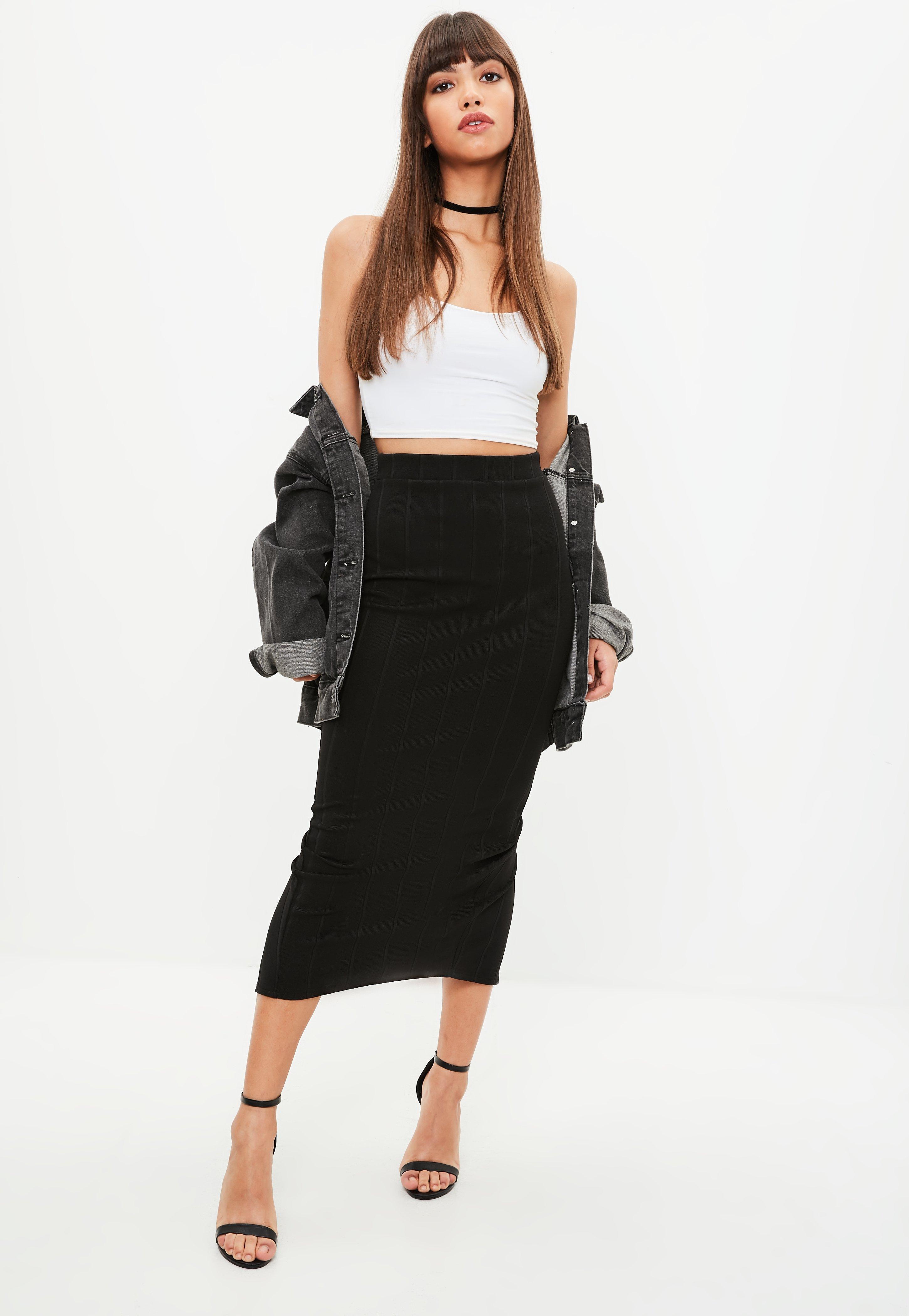 590795dbcc Black Bandage Maxi Skirt Missguided