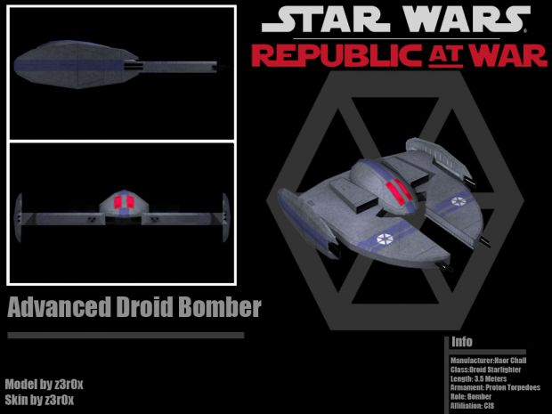 Advanced Droid Bomber Image Republic At War Mod For Star
