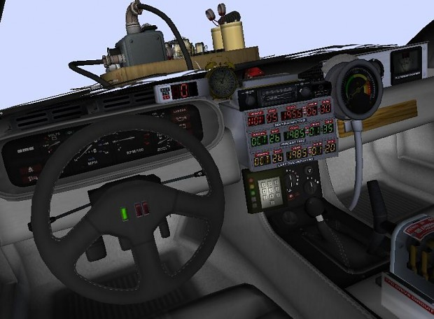 New Bttf Delorean Interior Textures Image Back To The