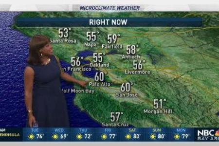 Bay Area Weather  Forecast  Maps and Doppler Radar   NBC Bay Area  p Our weather stays pleasant with hazy skies  Hotter weather returns soon   Bay Area Weather Forecast