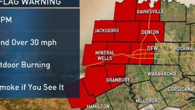 HD Decor Images » 11 Counties Under Fire Weather Warnings   NBC 5 Dallas Fort Worth NBC 5 Forecast  One More Decent Chance for Rain