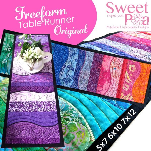 sweet pea embroidery # 63