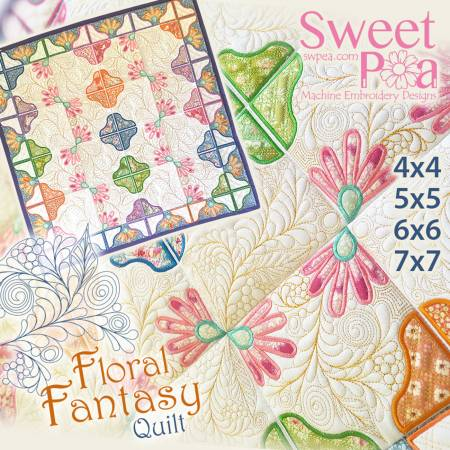 sweet pea embroidery # 58