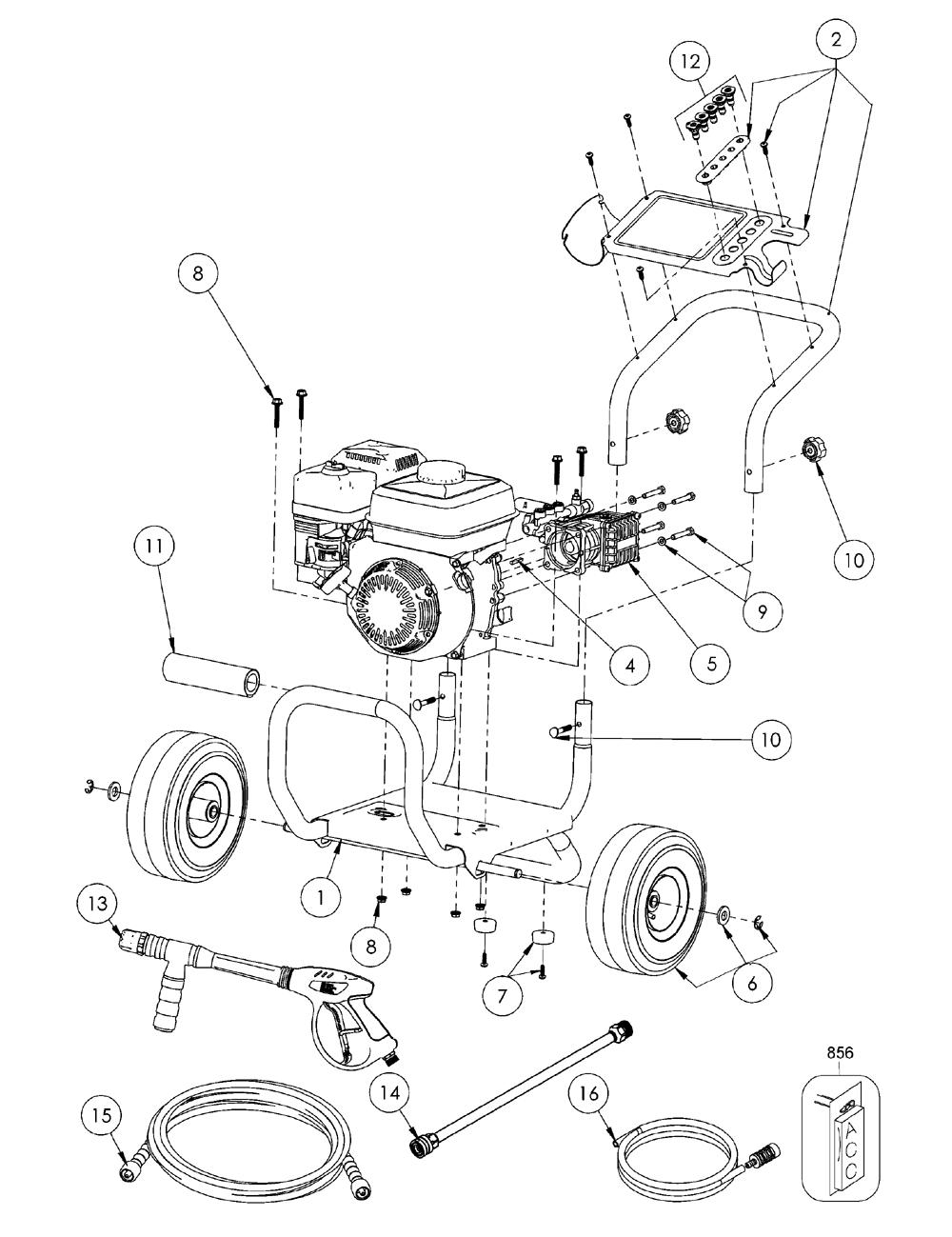 Dewalt dx 3425 type 0 parts schematic