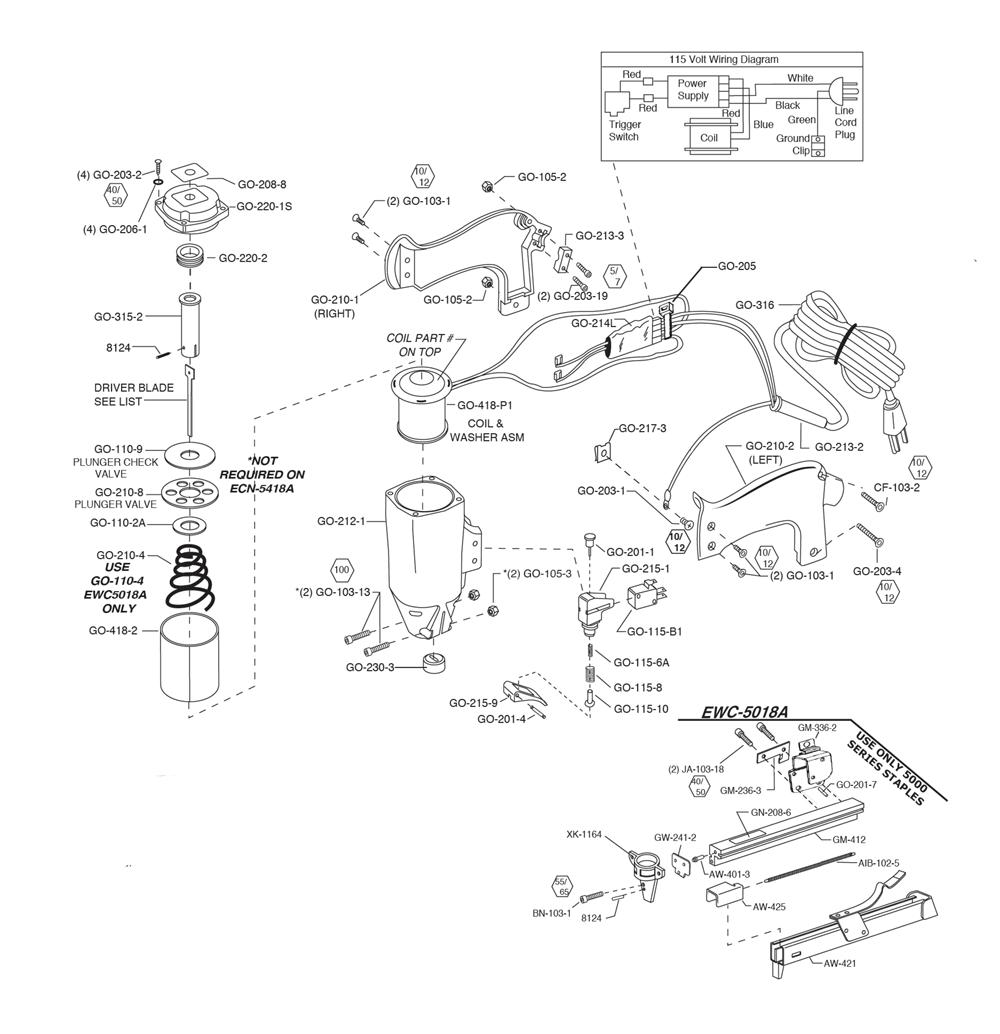 Duo fast ewc 5018a parts schematic