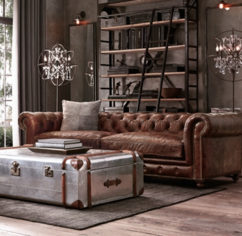 Leather Sofa Rustic Style