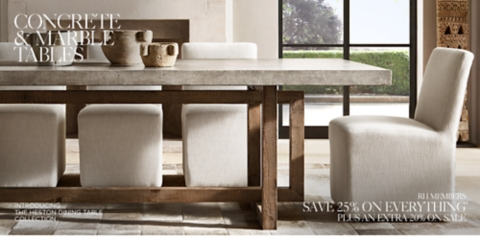 Dining Table Restoration Hardware