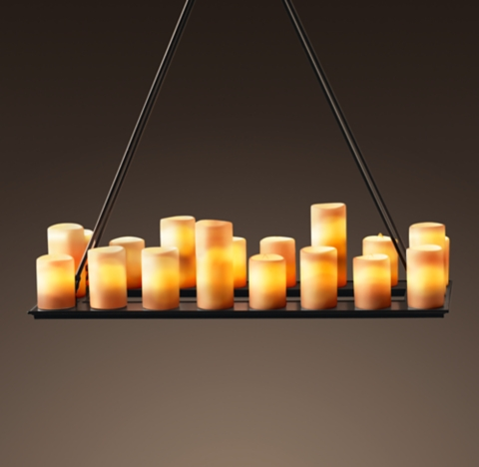 Pillar Candle Rectangular Chandelier 39 Quot