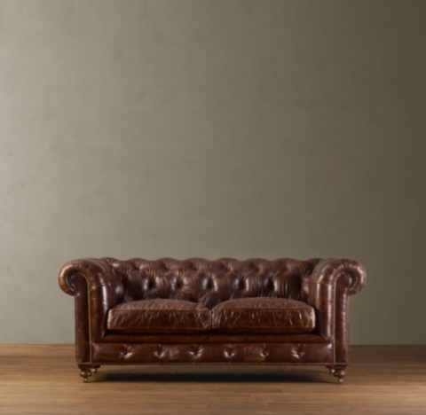 Brown Leather Couch Studs