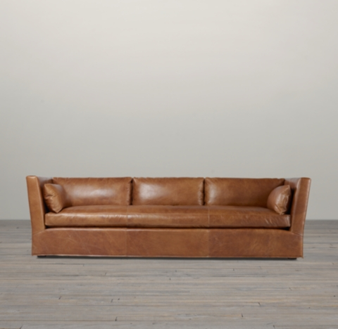 Belgian Shelter Arm Leather Sofa