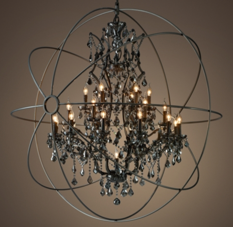 Foucault S Orb Smoke Crystal Chandelier 60 Quot