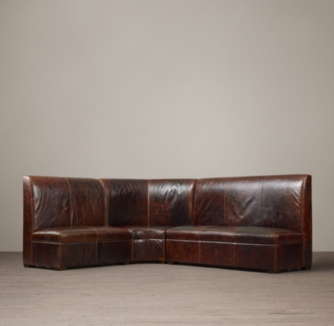Maxwell Leather L Banquette