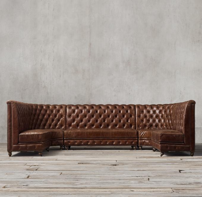 Kensington Leather U Banquette